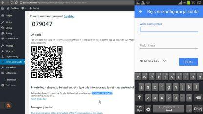 Podwojne uwierzytelnienie z Google Authenticator i wtyczką Two Factor Authentication