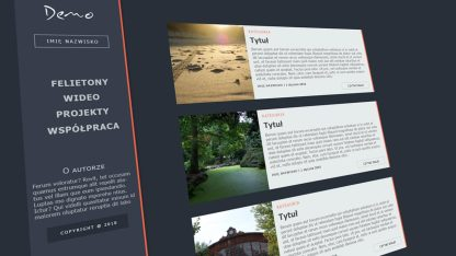Projekt graficzny wykonany w programie InDesign