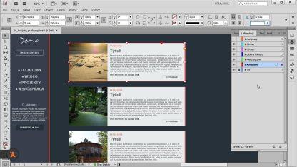 Projekt graficzny w InDesign - etap przygotowań