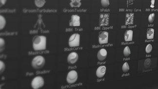 ZBrush Pędzle 3d kompendium - szkolenie wideo poświęcone pędzlom w programie ZBrush