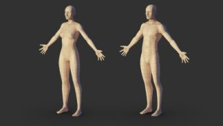 Modelowanie mezczyzny i kobiety w Blenderze